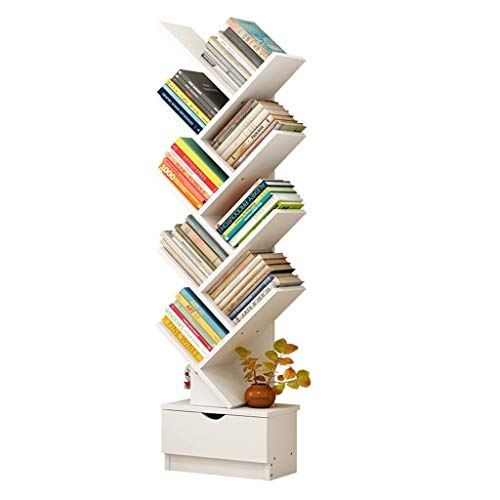 Liutao Bücherregale Tree-Shaped Bookshelf Storage Rack Cabinet Einfache und Moderne Bodenregal Einfache Bücherregal Bücherregale (Größe : 97cm)
