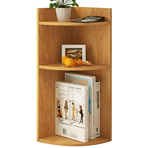 Bücherregale Desktop Small Bookshelf Rack Einfache Tabelle Ecke Storage Rack Grid Multi-Layer Home Desk Shelf Bücherregale (Color : Wood Color)