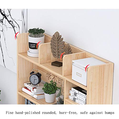 HJFSHUJ Bücherregal Aus Massivem Holz, Einfaches Tischregal, Aufbewahrungsregal for Studenten, Um Platz Zu Sparen, Bücherregal, Aufbewahrungsregal for Displays (Color : C, Size : 60cm)
