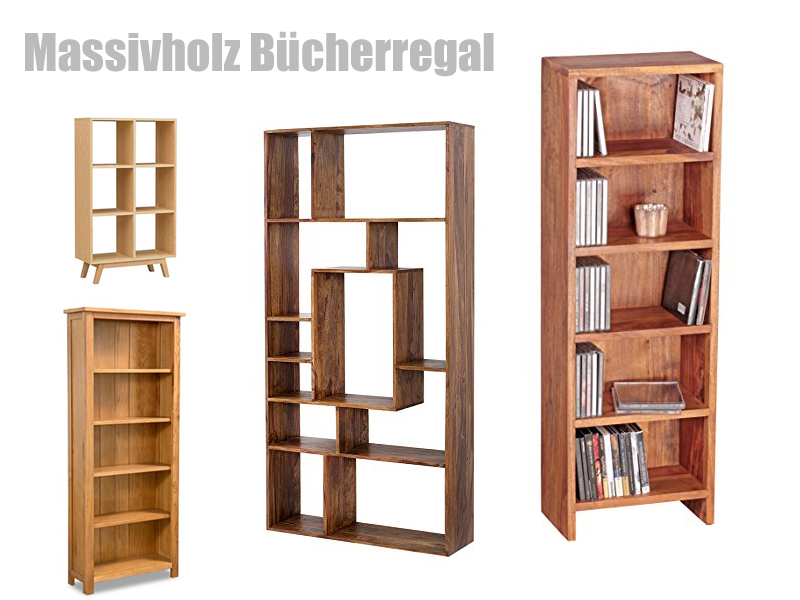 Bücherregal Massivholz