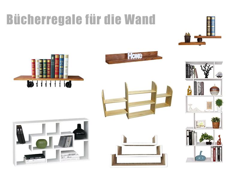 Bücherregale für die Wand